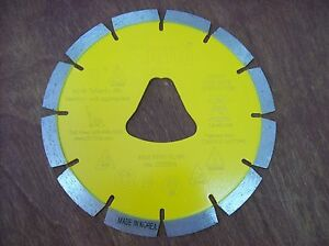6 Yellow Liberty Bell Blade For Soff Cut Saw Early Entry Concrete Blade