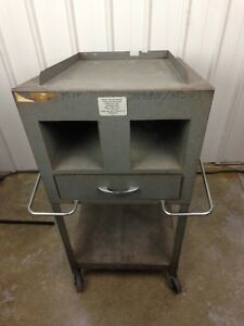 Vintage 1960 s Oscilloscope Testing Cart Tektronix Dolly Gad jets Gi 3008