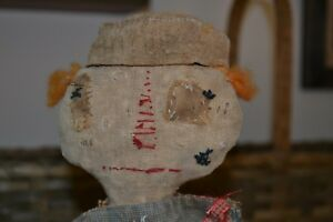 Primitive Raggedy Ann Doll Sailor Sharon Stevens Mustard Seed Ooak Dated Signed
