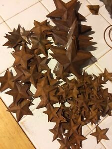 Lot Of 500 Rusty Barn Stars 3 5 2 25 1 5 Craft Weekly Special
