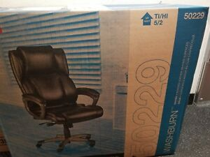 Staples Washburn Bonded Leather Office Chair Brown New
