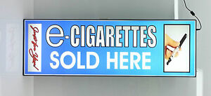 Business Led Lighted Box Sign Electronic E Cigarettes Sold Here blue