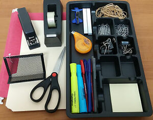 Complete Desk Office Supply Bundle With Drawer Organizer