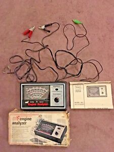 Vintage Sears Engine Analyzer 12 Volt 16 216300 With Box And Manuel