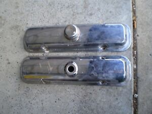 67 81 Pontiac Chrome Valve Covers 301 400 428 455 Oem Rare Gto Lemans Gp Tempest