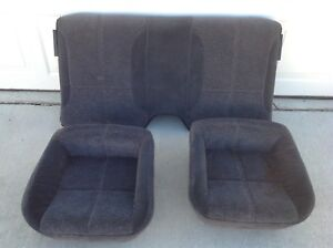 93 96 1996 96 Camaro Rear Upper Lower Back Cloth Seats Graphite Free Shipping