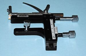Microscope Attachable X y Mechanical Stage Slide Specimen Holder