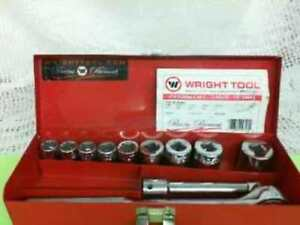 Wright Tools 418 Socket Set Tools hand
