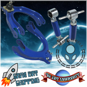 Camber Kit Front Upper Rear Adjustable For 1988 1991 Honda Civic Blue