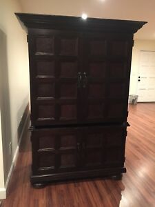 Antique Dresser Very Heavy Solid Wood