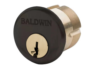 Baldwin Mortise Single Lock Cylinder C Keyway 2 Length Oil Rubbed Bronze 8328