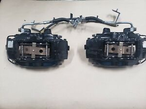 2007 2012 Ford Mustang Shelby Gt500 Front Brembo Brake Calipers Black Oem