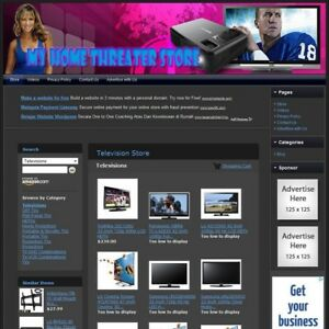Television Store Turnkey Affiliate Website Dropship Free Domain