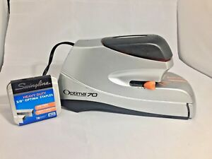 Swingline Optima 70 Sheet Electric Stapler With Staples Tested
