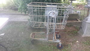 Vintage Post Office Industrial Metal Cart