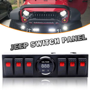Mac Auto2017 6 Rocker Jeep Switch Panel With Voltmeter Jeep Switch Panel Jk