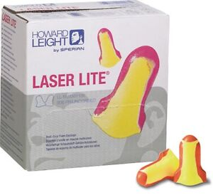 5 Boxes Of 200pr Howard Leight Laser Lite Uncorded Nrr 32 Disposable Ear Plugs