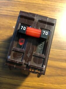 Wadsworth 70amp 2 double Pole Type Cu al Circuit Breaker Metal Clip 120 240v