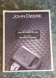 John Deere 316 318 320 Lawn Tractor Technical Service Repair Manual Tm 1590