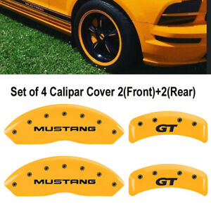Mgp Brake Caliper Cover Yellow Mustang gt Sn95 Logotype 10095smg1yl