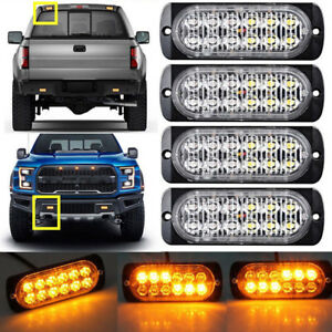 1 X Car Truck Motorcycle Led Emergency Flash Strobe Lights External Warning Lamp