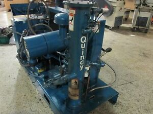 30hp Quincy Qsb 30 Screw Air Compressor Excellent Condition Ready To Compress