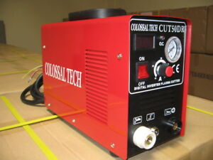 Plasma Cutter Cut50dr Digital New Inverter 110 220dual Includes 40 Consumables