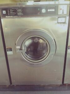 Used Huebsch 50lb Coin Laundry Commercial Washer Extractor W New Bearings