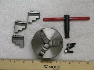 Mini Lathe 3 Jaw Chuck 3 With Key And Inside And Outside Jaws mounting Studs