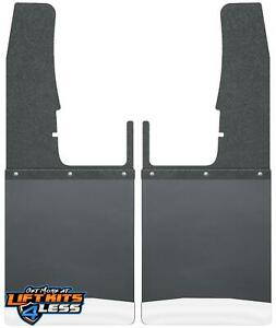 Husky Liner 17102 Frnt Kick Back Mud Flaps 12 Wide Blk Ss For 09 18 Dodge 1500
