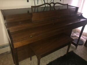 Antique Solid Wood Baldwin Piano With Bench In Excellent Conditon