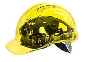 10pk Of Portwest Peak View Hard Hat Non Vented Uv 400 Protection Class C Pv54