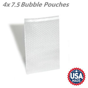 4 X 7 5 Clear Self Sealing Bubble Out Pouch Cushioning Shipping Bags