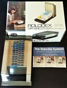 Vtg Rolodex Vip 24c With 500 2 1 4x4 Cards A z Index New In Box See Photos