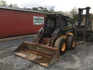 1996 New Holland Lx885 Skid Steer Loader W Cab No Door Needs Engine Work