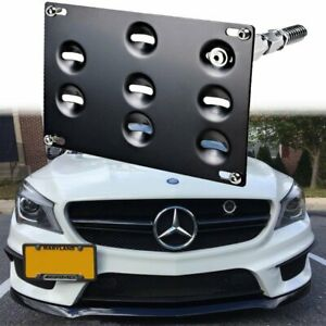 Front Tow Hook License Plate Bracket Holder For Mercedes C E Gla Glc Gle M Class
