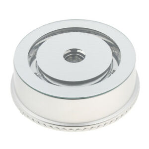 Usb Powered 360degree Rotating Jewelry Watch Ring Dispaly Holder White Base