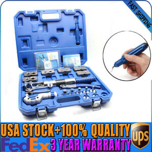 Steel Wk 400 Universal Hydraulic Flaring Tool Set 18pcs Pipe Fuel Line Kit