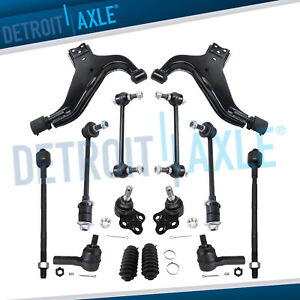 Front Lower Control Arms Tierods Sway Bars Ball Joints For Pathfinder Qx4