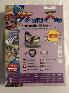 High Quality Cd Labels 700 Blank Sheets 1 400 Cds Multiflip Ls101 Letter