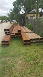 Steel Square Tubing 8 X 8 X 3 8 X 35 Ft Made In Usa New Old Stock