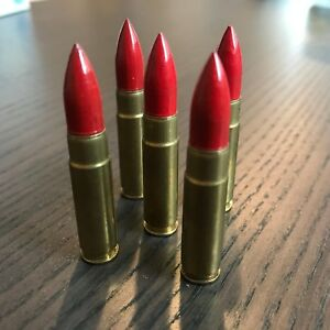 300 AAC BLACKOUT SNAP CAPS SMOOTH RED BULLETS DUMMY TRAINING ROUNDS SET OF 5 $17.00