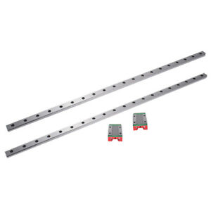2x Linear Slid Rail Guide 250 550mm 2x Mgn12h Guide Block For Cnc Diy