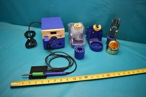 Used Hakko Dual Fm 203 2 Soldering Stations 1 Hand Pc and Accessories
