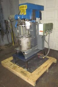 5 Gallon Dual Shaft Vacuum Disperser With Sweep Blade