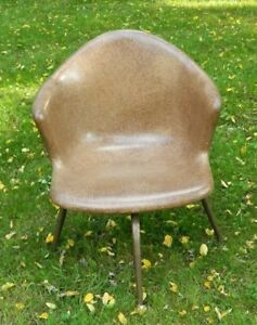 Mid Century Fiberglass Swivel Arm Chair Vintage Unknown Local Pickup Only