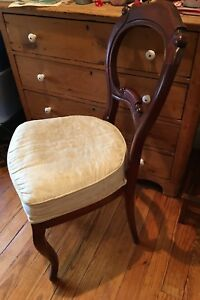Antique Victorian Balloon Back Parlor Chair Stain