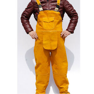 Welding Overalls Suits For Men Cowhide Welding Cloting Leather 54 22inches