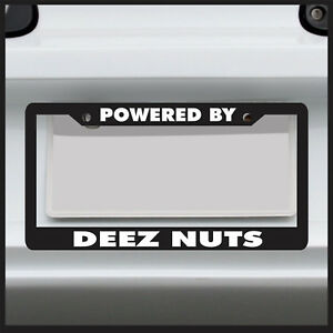 Powered By Deez Nuts Jdm Funny 4x4 License Plate Frame