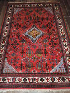 7x9ft Handwoven Persian Design Middle Eastern Wool Rug